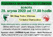 Pozvánka na fotbal do Vilémova !   SK Vilémov